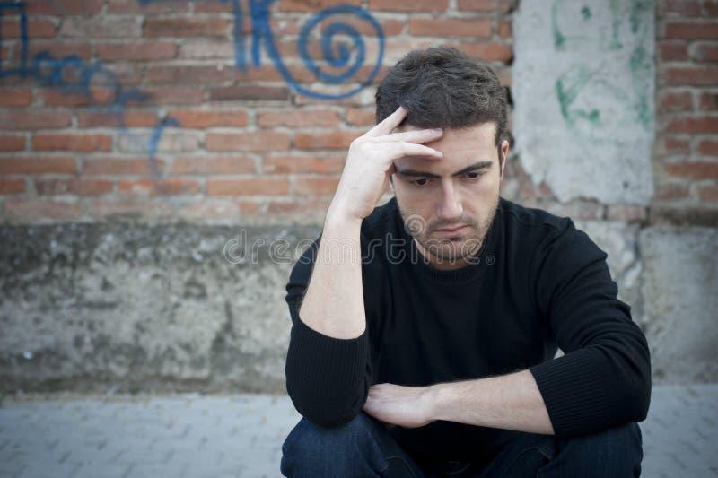 smutny miasto mężczyzna fotografia stock