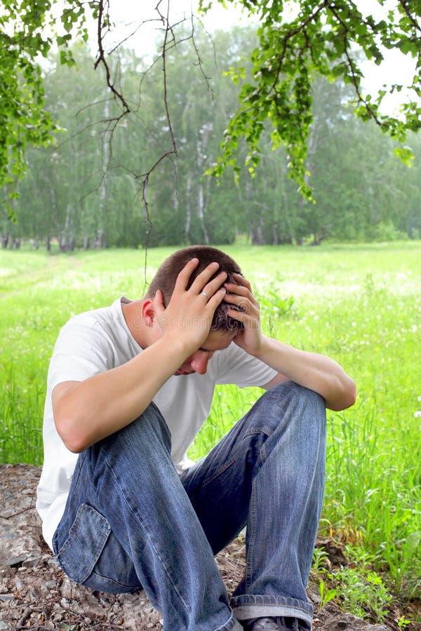 smutny nastolatek zdjęcie royalty free