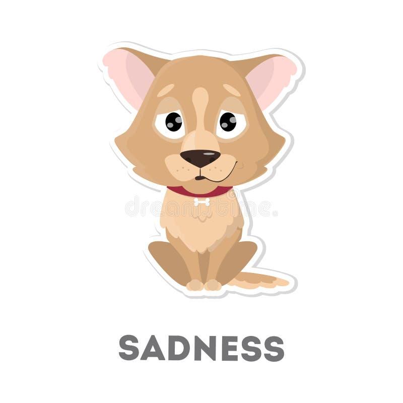 smutny pies royalty ilustracja