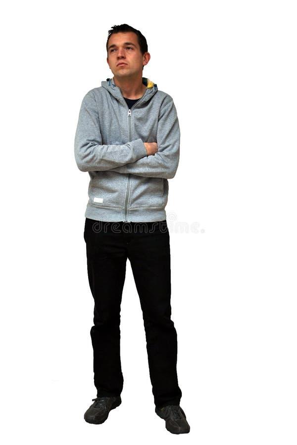 Smutny rozczarowany młody człowiek zdjęcia stock