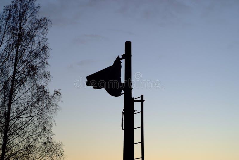 Smutny semafor fotografia royalty free