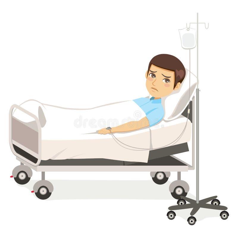 Smutny Szpitalny mężczyzna ilustracji