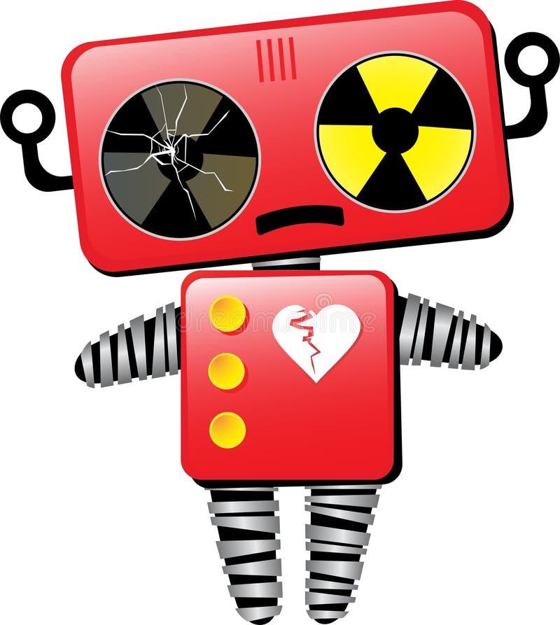 smutny złamane serce robot royalty ilustracja