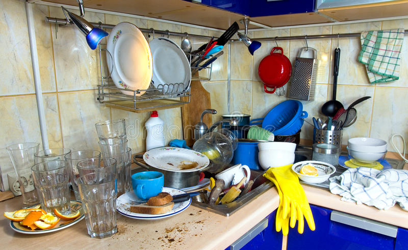 Smutsa ner odiskad disk för kök arkivfoto