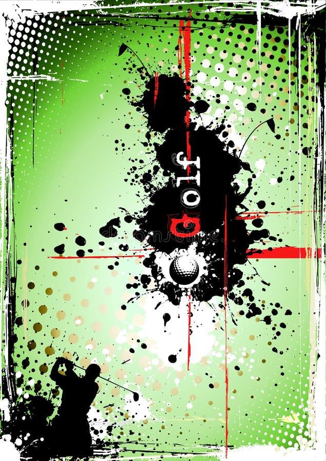 smutsig affisch för golf 2 stock illustrationer