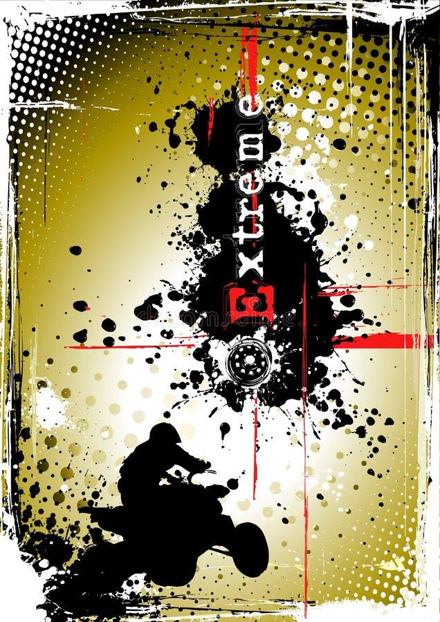 smutsig affisch för motosport 2 vektor illustrationer