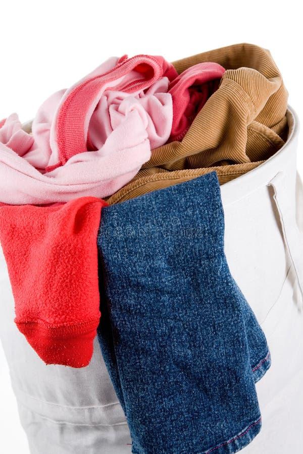 Smutsig bekläda tvätteri royaltyfri fotografi