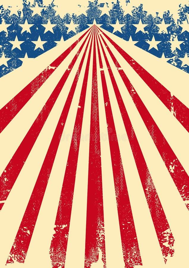 Smutsig flaggabakgrund för amerikan vektor illustrationer