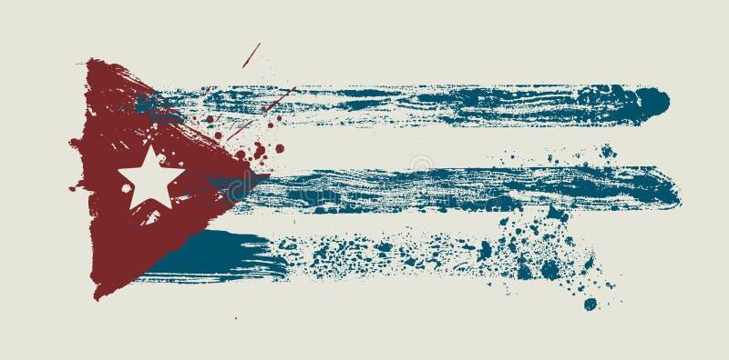 smutsig flaggavektor för borste stock illustrationer