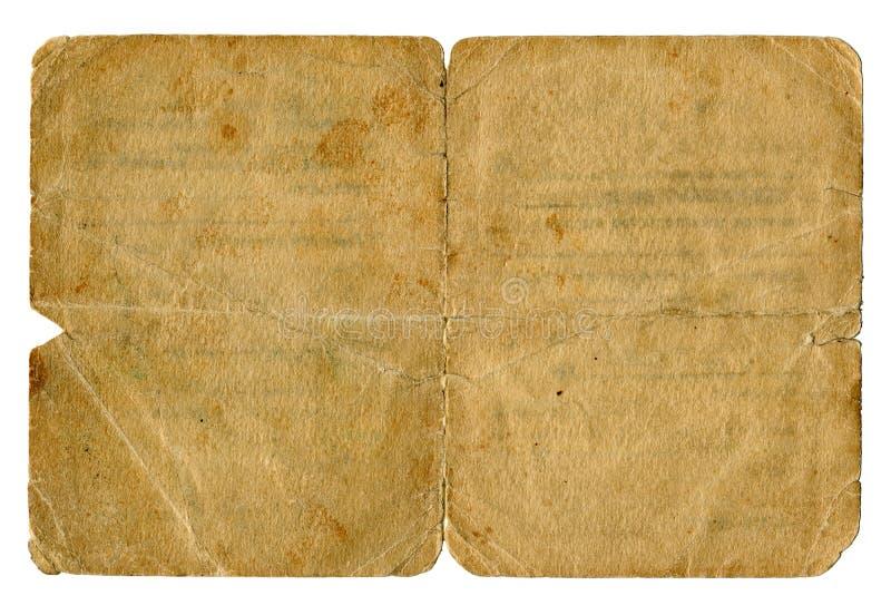 Smutsig gammal dokumenträkning. royaltyfria bilder
