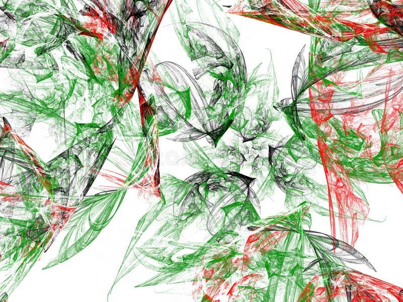 Smutsig grön röd modell för abstrakt grunge stock illustrationer