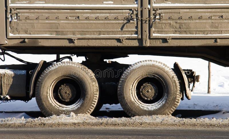 smutsig lastbil royaltyfria bilder