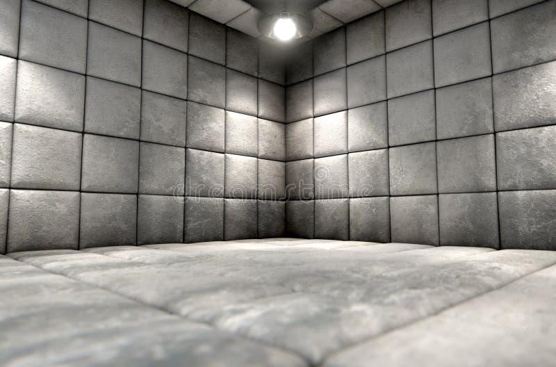 Smutsig maddrasserad cell royaltyfri fotografi