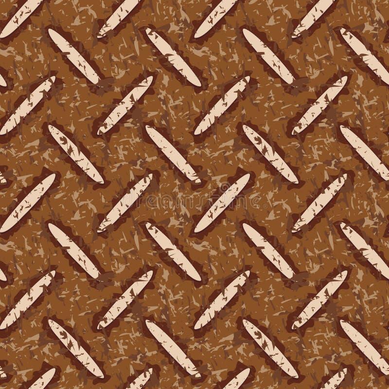 smutsig rostig golvmetallplatta vektor illustrationer