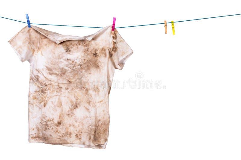 Smutsig skjorta arkivbild
