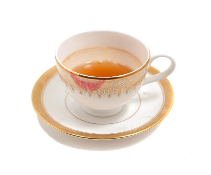 smutsig teacup royaltyfri foto