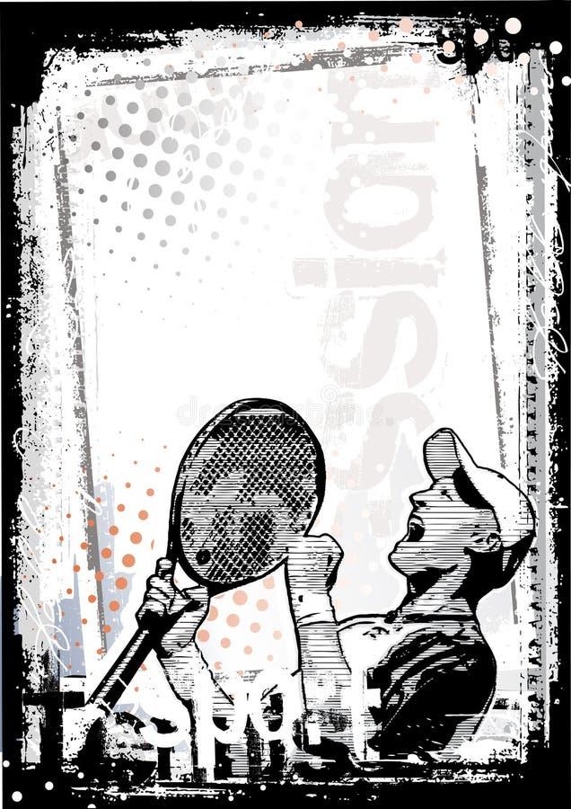 smutsig tennis för bakgrund royaltyfri illustrationer