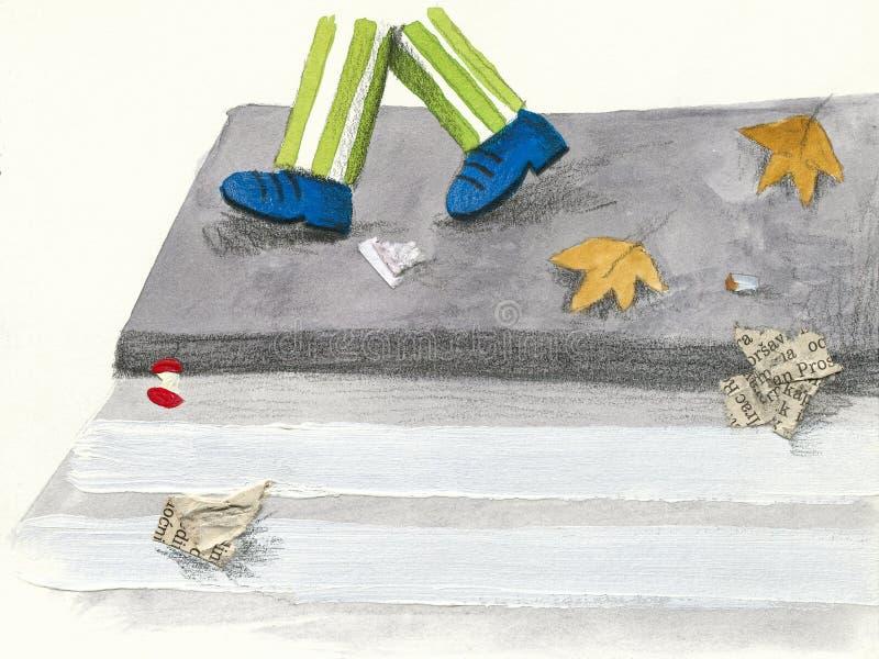 smutsig trottoar stock illustrationer