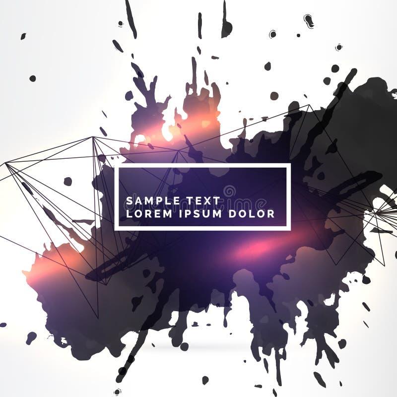 Smutsigt färgpulver plaskar bakgrund med ljus effekt vektor illustrationer
