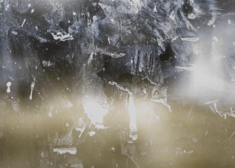 Smutsigt glass fönster royaltyfri foto