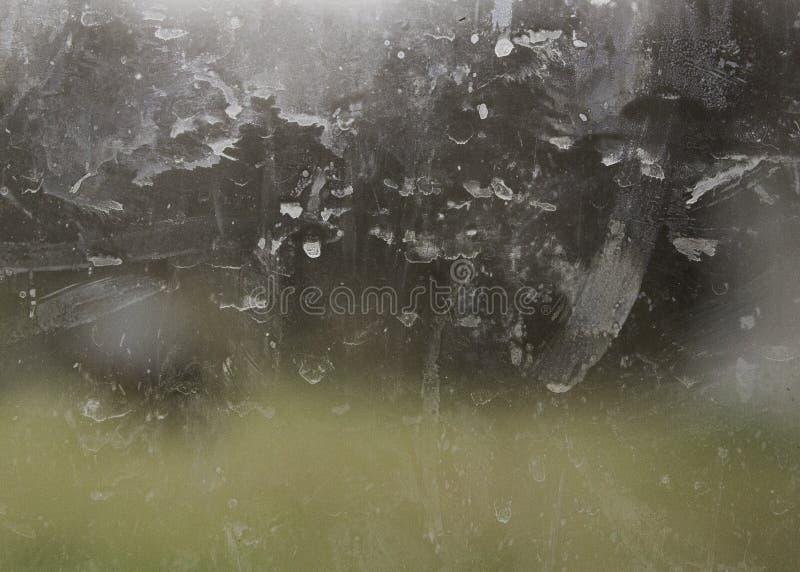Smutsigt glass fönster arkivbilder