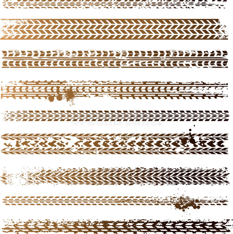 smutsigt gummihjulspår vektor illustrationer