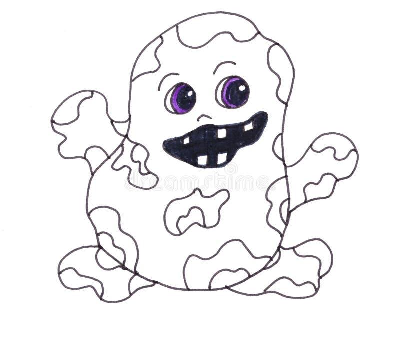 Smutsigt prickigt monster stock illustrationer
