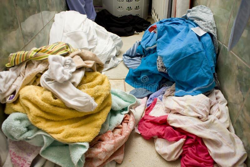 smutsigt tvätteri arkivbilder