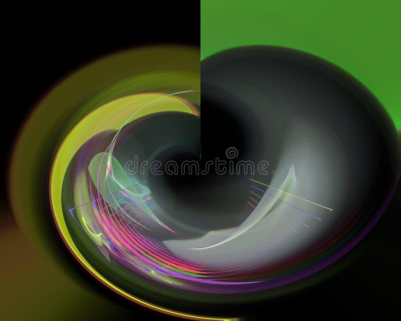 Smyckar den magiska kurvan för den abstrakta digitala fractalen idérikt, den konstnärliga mallen, elegans som är dynamisk royaltyfri illustrationer