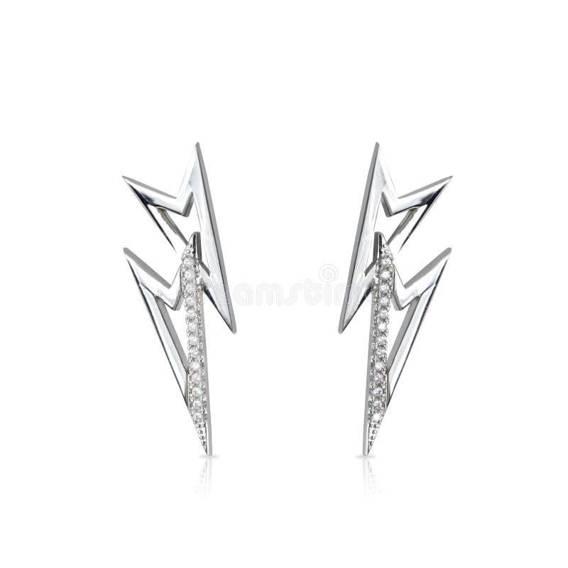 Smyckenörhängen som isoleras på viten royaltyfria bilder