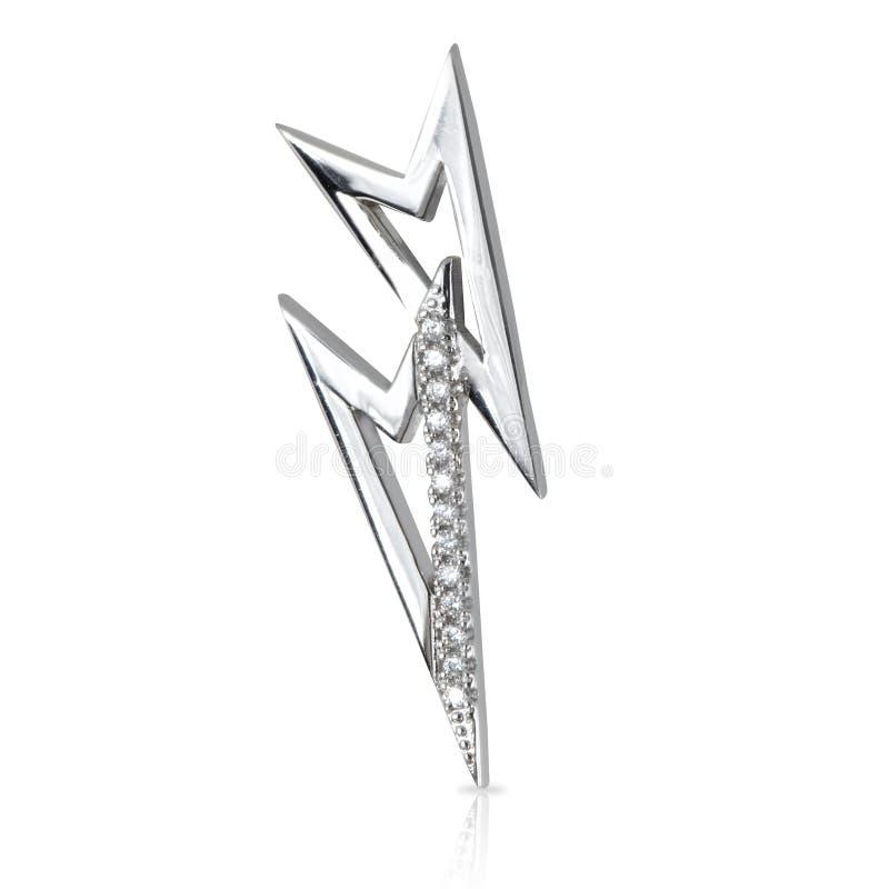 Smyckenörhängen som isoleras på viten royaltyfri foto
