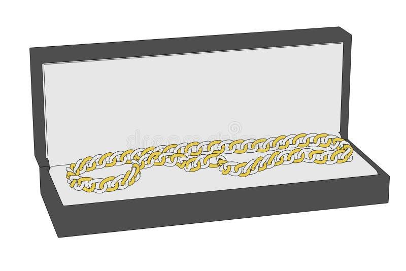 Smycken boxas royaltyfri illustrationer