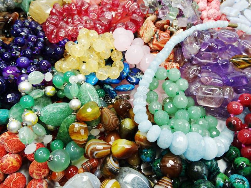 Smycken för Semigem kristallpärlor fotografering för bildbyråer