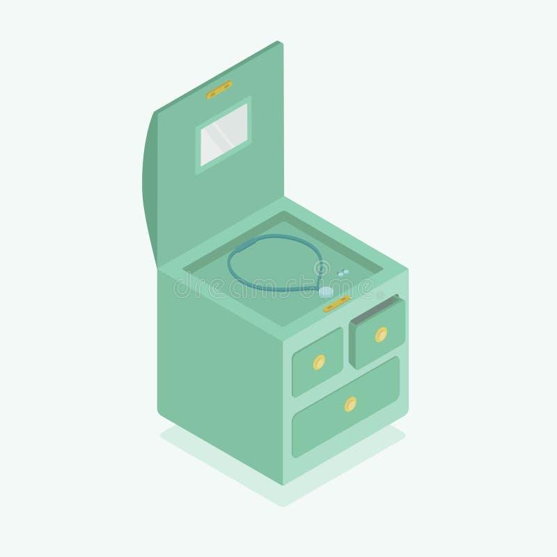 Smyckenask som är isometry stock illustrationer