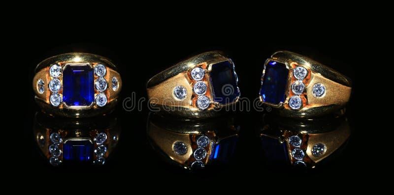 Smyckendiamantcirkel och gemstone arkivbilder