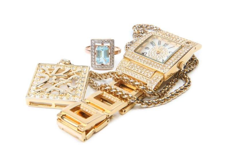 smyckenset arkivfoton