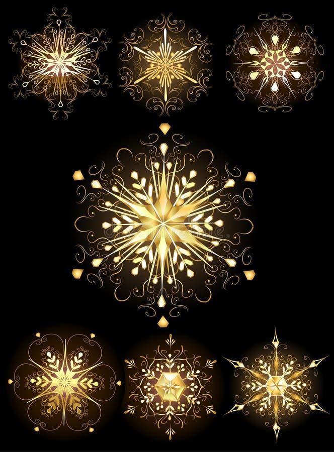 smyckensnowflakes royaltyfri illustrationer