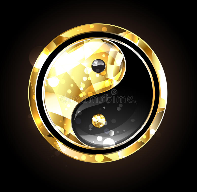 Smyckenyinyang symbol stock illustrationer