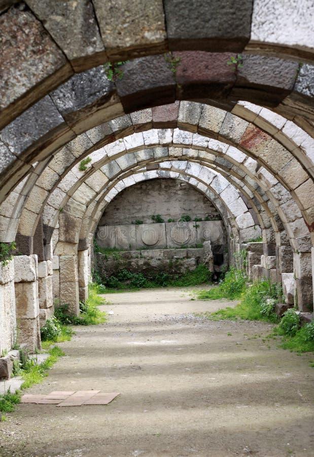 Smyrna города Agora стародедовское Стоковые Фотографии RF