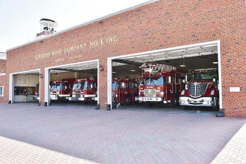 Smyrna delaware state usa firefighters station stock photography