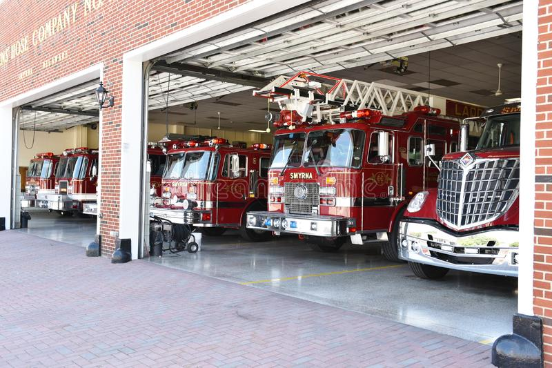 Smyrna delaware state usa firefighters station royalty free stock photography