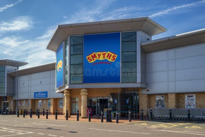 Smyths玩具商店在圣Helens默西赛德郡英国 免版税库存照片