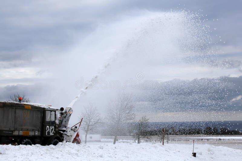 Snö-blåsare fotografering för bildbyråer