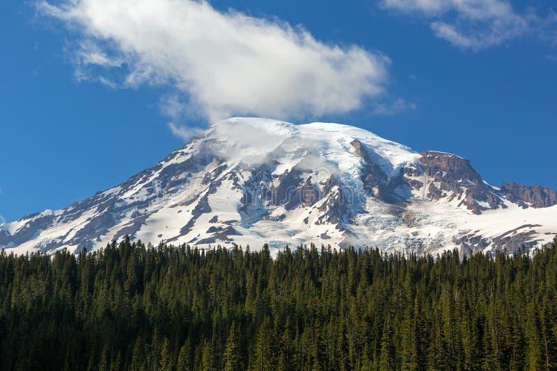 Snö dold Mt som är mer regnig i staten WashingtonCloseup arkivbilder