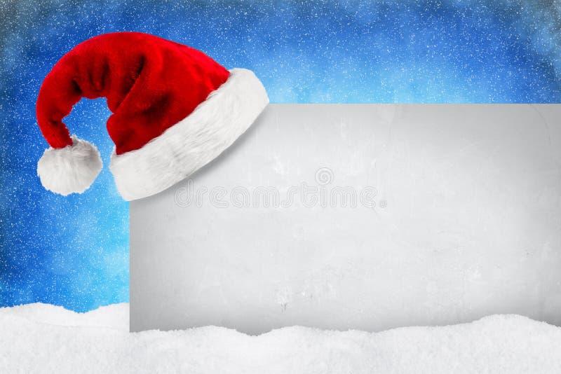 Snö för XMAS-kortblått arkivfoton