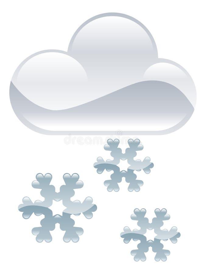 Snö flagar molnillustrationen vektor illustrationer