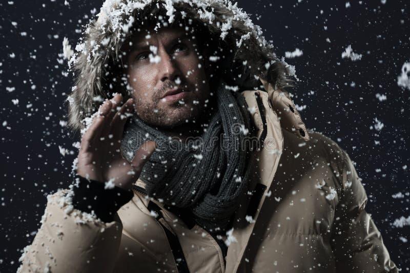 Snö-kastby royaltyfri foto