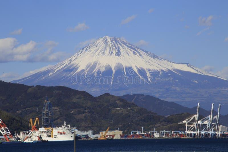 Snö på det Fuji berget royaltyfri bild
