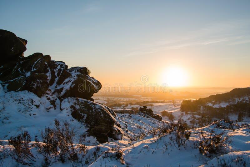 Snö på Ramshaw vaggar royaltyfri foto