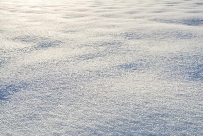 Snö på solnedgångbakgrund arkivbild